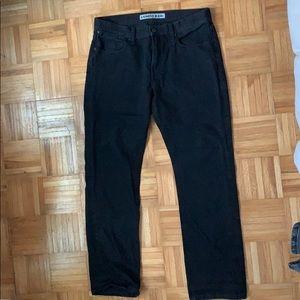Classic Fit Straight Leg Jean - Black